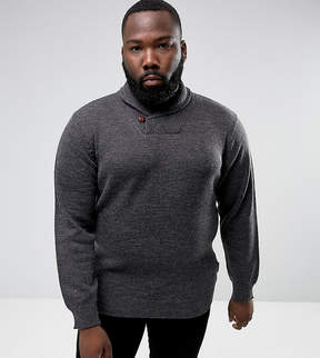 French Connection PLUS Lamb Shawl Collar Sweater