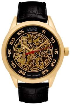 Croton Men's Goldtone Imperial Automatic Strap Watch
