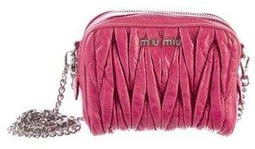 Miu Miu Matelassé Mini Crossbody Bag