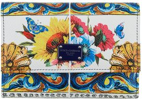 Dolce & Gabbana Majolica Front Flap Wallet - MULTI - STYLE