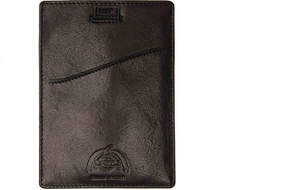 Dopp Men's Carson Pull Tab Leather Passport Case