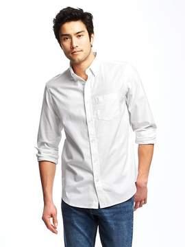 Old Navy Regular-Fit Stay-White Built-In Flex Oxford Shirt For Men
