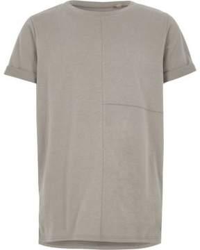 River Island Boys grey seam detail T-shirt