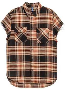 H&M Short-sleeved Flannel Shirt