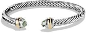 David Yurman Cable Classics Bracelet with Prasiolite