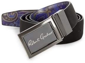 Robert Graham Men's Eclipse Reversible Faux Leather Belt