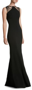 Dress the Population Women's Harlow Crepe Gown
