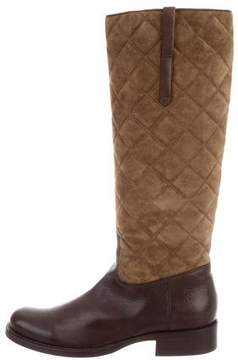Ralph Lauren Leather Quilted Knee-High Boots