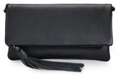 GiGi New York Pebble-Grained Leather Fold-Over Clutch