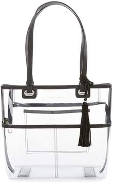 Vince Camuto Aryna Clear Small Colorblock Tote