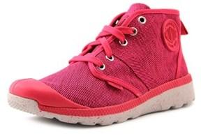 Palladium Pallaville Hi Tx Women Round Toe Canvas Pink Sneakers.