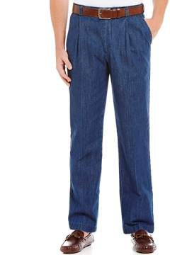 Roundtree & Yorke Pleated Inno-Flex Denim Pants