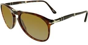 Persol Men's PO9714S-24/33-55 Brown Round Sunglasses