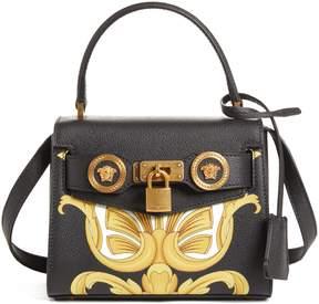 Versace Mini Icon Top Handle Leather Crossbody Bag