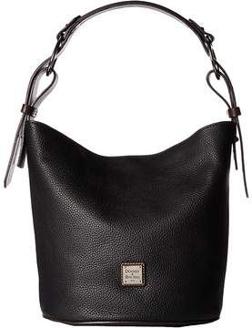 Dooney & Bourke Becket Henley Feedbag Handbags - BLACK/TMORO TRIM - STYLE