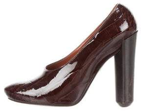 Louis Vuitton Embossed Patent Leather Pumps