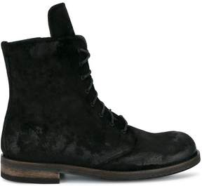 Ann Demeulemeester Suede Creased Boots