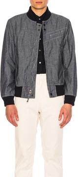Engineered Garments Aviator Jacket in Blue.