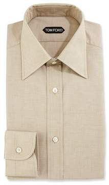 Tom Ford Slim-Fit Solid Dress Shirt, Green