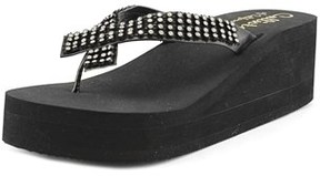 Callisto Belisima Open Toe Leather Wedge Heel.