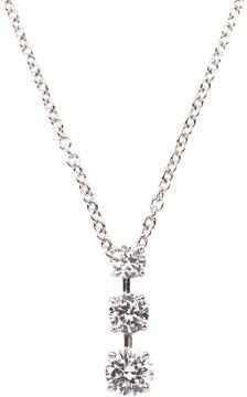 FANTASIA Triple-Stone CZ Pendant Necklace