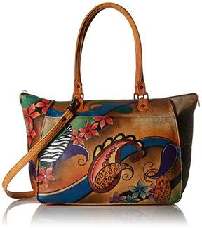 Anuschka Anna by Genuine Leather Large Tote Shoulder Bag | Hand-Painted Original Artwork |