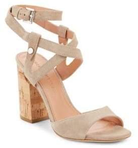Sigerson Morrison Paulina2 Block Heel Suede Sandals