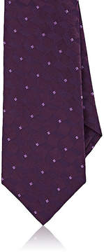 Isaia Men's Geometric-Pattern Silk Necktie