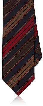 Drakes Drake's Men's Striped Silk-Cotton Faille Necktie