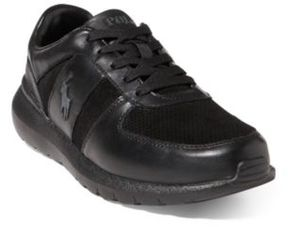 Ralph Lauren Cordell Leather Sneaker Black 10