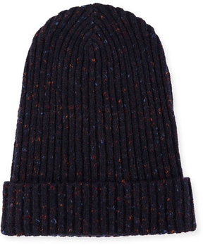 Isaia Cashmere Donegal Beanie Hat