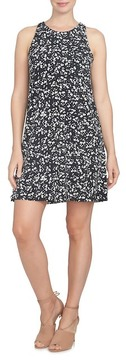 CeCe Twist Back Ditsy Floral Dress