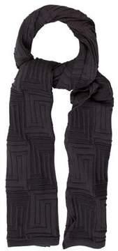 Versace Grey Knit Scarf