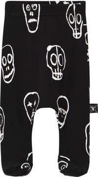Nununu Black Skull Mask Footed Baggy Trousers