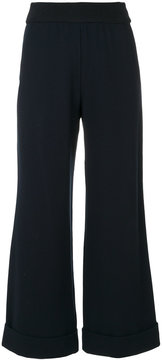 Emporio Armani flared trousers with turn up cuffs