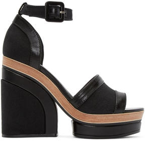 Pierre Hardy Black Denim Charlotte Sun Sandals