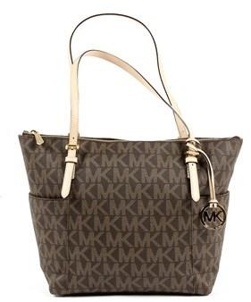 Michael Kors Womens Handbag Jet Set Item. - BROWN - STYLE