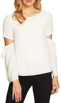 Cynthia Steffe CeCe by Split Cutout Sleeve Bow Top