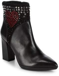 Love Moschino Studded Point Toe Booties