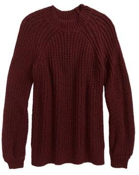 Treasure & Bond Girl's Bubble Sleeve Sweater