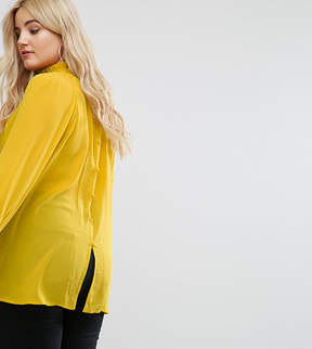 Alice & You High Neck Top With Button Back Detail