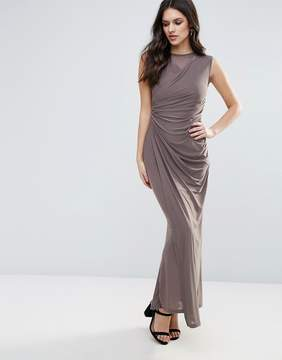 AX Paris Slinky Maxi Dress With Ruched Detail