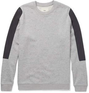 Folk Shell-Panelled Loopback Cotton-Jersey Sweatshirt