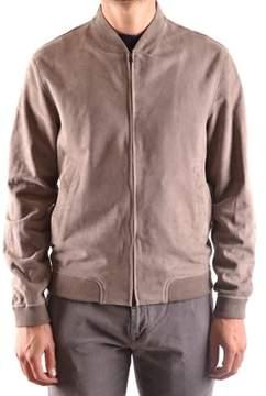 Herno Men's Brown Suede Outerwear Jacket.