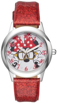 Disney Disney's Minnie Mouse Girls' Leather Watch
