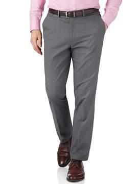 Charles Tyrwhitt Grey Slim Fit Pin Dot Cotton Tailored Pants Size W38 L30