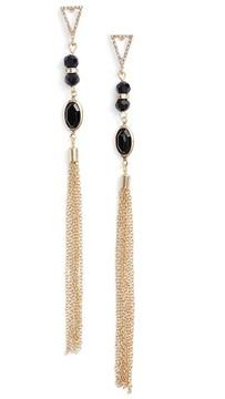 Ettika Women's Chain Tassel Drop Earrings