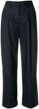 P.A.R.O.S.H. straight leg cropped trousers