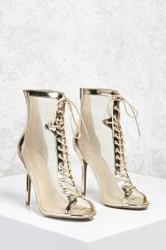 Forever 21 Metallic Mesh Stiletto Heels