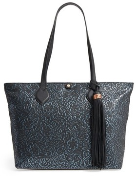 Tommy Bahama Barbados Leather Tote - Black
